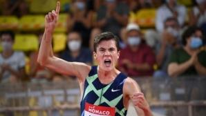 Якоб Ингебрицен подобри европейския рекорд на Мо Фара на 1500 метра