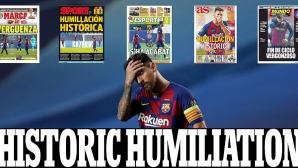 """Световната преса в шок след разгрома на Барселона, """"Билд"""" го определи за """"мача на века"""""""