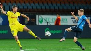 Динамо (Брест) удари БАТЕ със скандален гол преди сблъсъка с Лудогорец (видео)