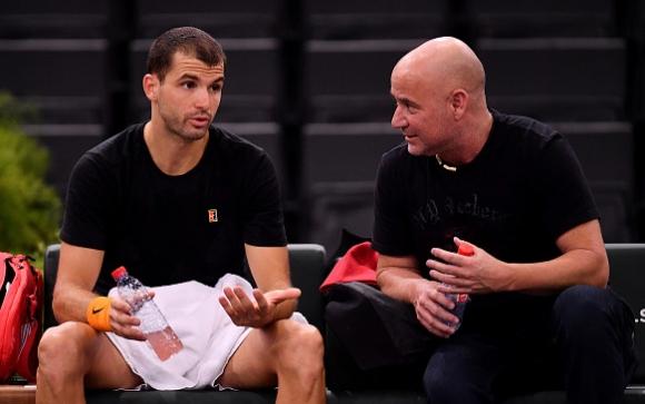 """Андре Агаси дава съвети по телефона на Григор за мачовете на """"Ролан Гарос"""""""