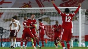 Тотална доминация на Ливърпул срещу Арсенал, първи гол за Жота (видео)