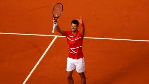 Джокович отнесе литовец и изравни постижение на Федерер