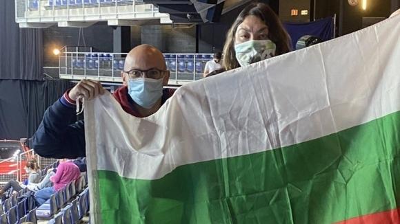 Верни фенове от Белгия и Италия подкрепят Гришо с българския флаг (снимки)
