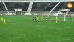 Необясним автогол на мач в Румъния (видео)