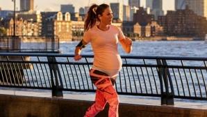 Бременнна в деветия месец избяга 1 миля под 6 минути