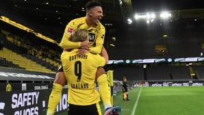 Дортмунд 1:0 Шалке, Аканжи изведе домакините напред (гледайте тук)