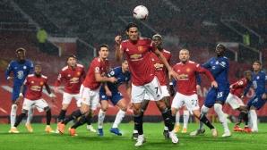 Манчестър Юнайтед 0:0 Челси, Кавани вече е на терена (гледайте тук)