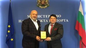 БФ Бадминтон награди министър Красен Кралев
