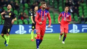 Челси се развихри в края и стигна до убедителна победа в Русия (видео)
