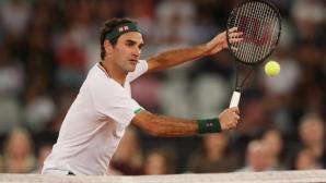 Федерер вече тренира на корт