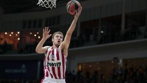 Пет точки за Александър Везенков при загуба на Олимпиакос в Евролигата
