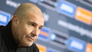 Треньорът на Гибралтар с рекордно кратка пресконференция в София (видео)