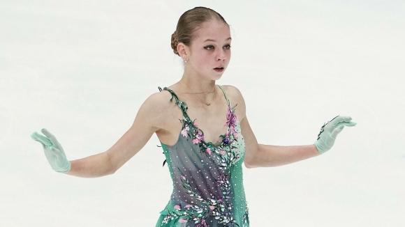 Александра Трусова със заявка за три четворни скока в Гран При на Москва