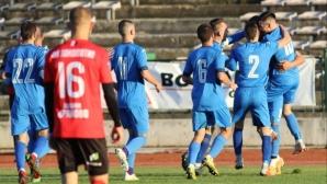Задна ножица донесе десета поредна победа на Левски (Лом) (видео+галерия)