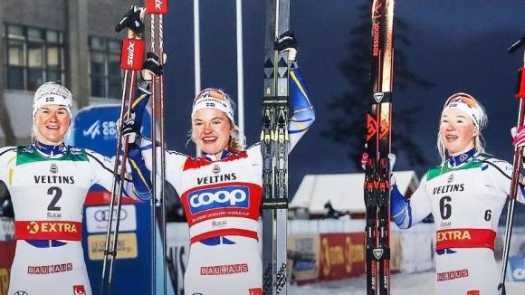Шведски подиум в първия старт от Световна купа по ски бягане при жените