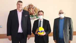 Любо Ганев и Петър Кънев на среща при министър Лъчезар Борисов