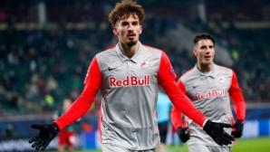 Първа победа и шанс за нещо повече за РБ Залцбург след два гола на Бериша (видео)