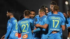 Марсилия диша във врата на ПСЖ с пета поредна победа