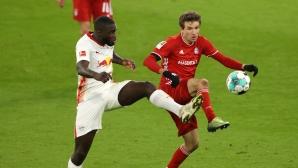 Байерн 2:2 Лайпциг, нови два бързи гола (гледайте тук)