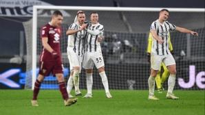 На почивката: Ювентус 0:1 Торино (видео)