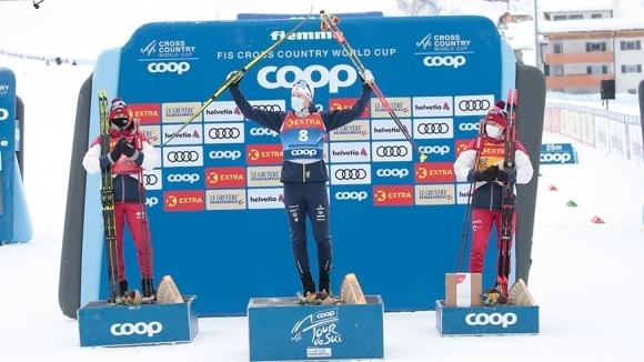 """Оскар Свенсон с първа победа за Световната купа, Болшунов на крачка от нова титла в """"Тур дьо ски"""""""
