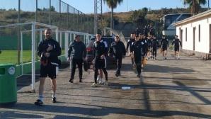 Славия тренира пред погледа на Венци Стефанов (видео+снимки)
