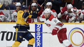 Двубоят в НХЛ между Нашвил и Каролина беше отложен заради COVID-19