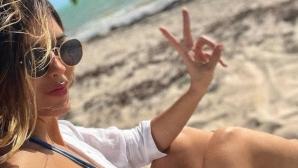 Гаджето на Хамес Родригес зарадва феновете си по бански (снимка)