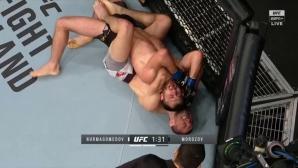 Братовчедът на Хабиб с победа чрез събмишън в UFC