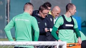 Футболистите на Лудогорец с възстановителна тренировка