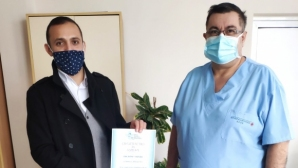 Янтра с дарение за COVID–отделението на габровската болница