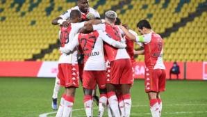 Монако записа пета поредна победа и доближи лидерите