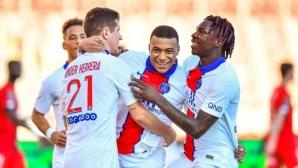ПСЖ се развихри срещу най-слабия отбор във Франция (видео)