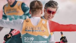 Ерик Валнес и Йоханес Клаебо спечелиха световната титла за Норвегия в в отборните спринтове