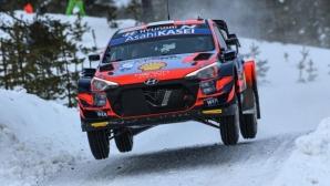 Танак записа първа победа за сезона във WRC след успех в Рали Арктик Финландия