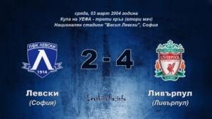 На този ден – Епичен мач на Левски с Ливърпул, чуйте спомените на Георги Иванов и Саша Симонович