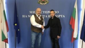 Министър Кралев се срещна с европейския шампион Мартин Чой