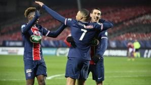 Пари Сен Жермен не трепна срещу Брест (видео)