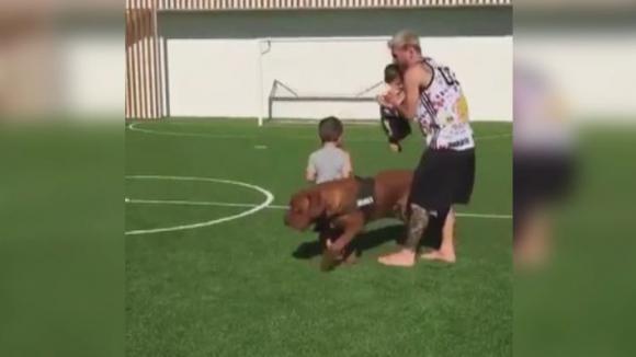Матео Меси с първи стъпки на футболния терен