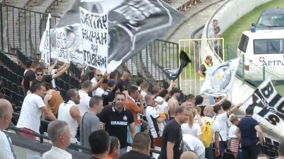 Феновете на Славия срещу Ботев (Пд)