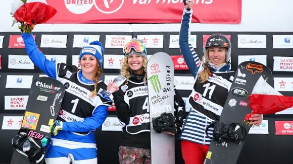 Силна Александра Жекова с най-добро класиране за сезона в сноубордкроса