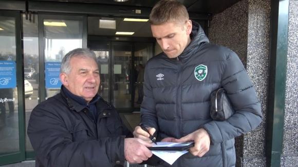 Ловци на автографи посрещнаха Лудогорец в Милано