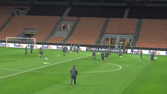 """Лудогорец тренира на """"Сан Сиро"""" преди реванша с Милан"""