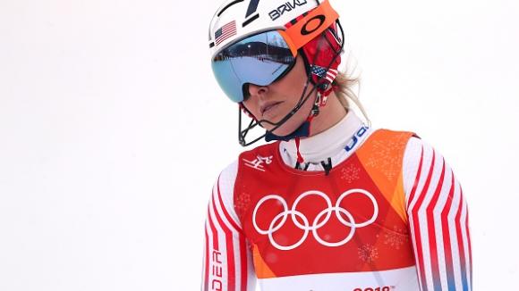 Линдзи Вон не успя да завърши в последното си състезание на олимпийски игри