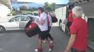 """Червените пристигнаха на стадиона под """"Аязмото"""""""