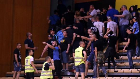 Прекратиха финал №2 между Левски Лукойл и Балкан