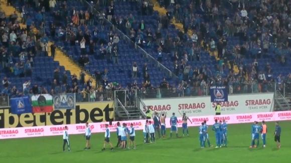 """""""Синя"""" радост след победата над Черно море"""