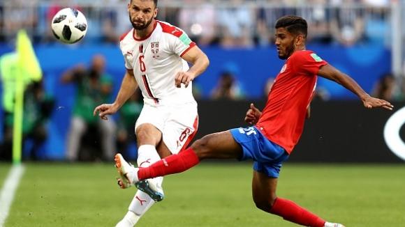 Фамозен фаул на Коларов донесе победата на Сърбия срещу Коста Рика