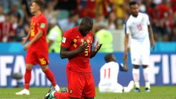 Победна молитва на Лукаку след двата му гола срещу Панама