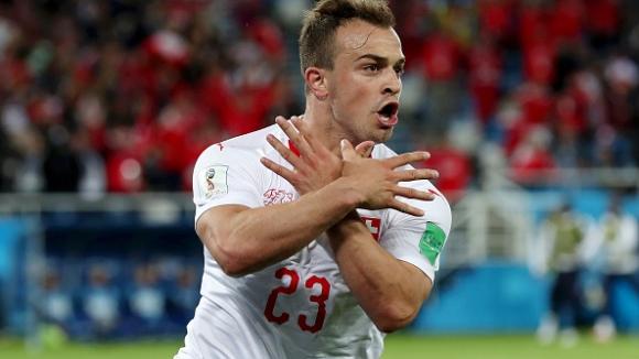 Шакири шокира Сърбия в края на мача